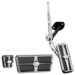 1967 - 1969 Custom Profile Pedal Kit for Automatic Transmission, Polished