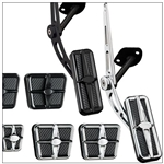1967 - 1969 Firebird Custom Profile Pedal Kit for Manual Transmission, Black Anodized