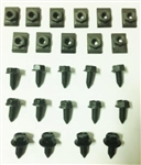 1967 - 1968 Hood Latch, Brace, and Release Mechanism Bolts Set
