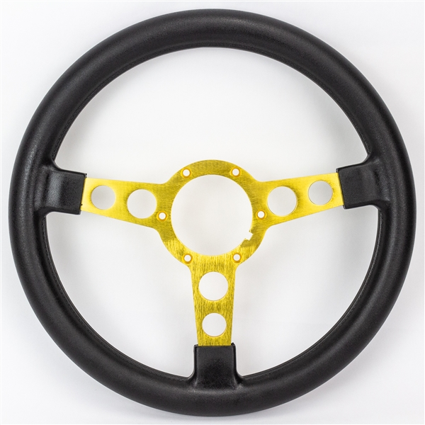 1970 - 1981 Firebird and Trans Am Formula Padded SPECIAL EDITION Steering Wheel with Gold Spokes & Black Padding