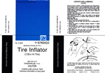 1967-1968 Firebird Space Saver Spare Tire Inflator Bottle Decal, 7.35 x 14 For Red Bottle, 9789422