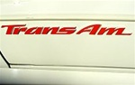 "1993 - 2002 "" Trans Am "" Door Emblem Decal - Each"