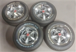 15 Inch Pontiac Rally Wheel Rims and BF Goodrich White Letter Tires, Set of 4 GM Used