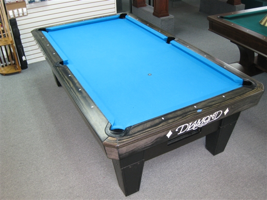 Diamond 8 foot pro am pool table charcoal finish - 8 foot pool table dimensions ...