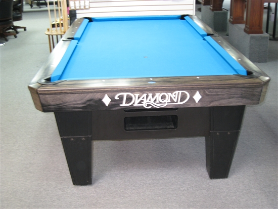 DIAMOND ProAm Foot Charcoal Pool Table - 9ft diamond pool table