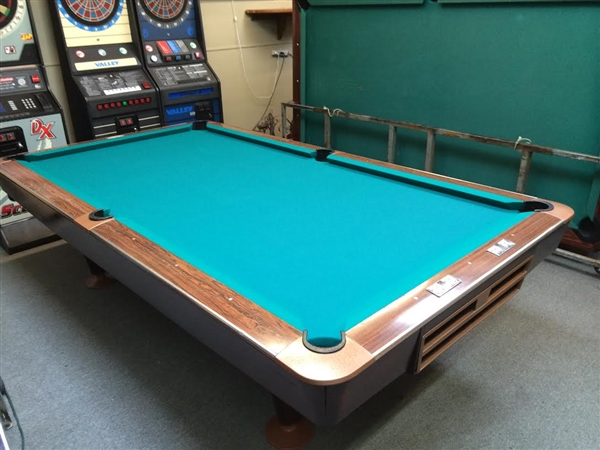Brunswick Gold Crown Foot Used - Brunswick 9 foot pool table