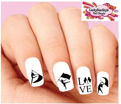 Color Guards Flags Waterslide Nail Decals