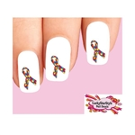 Autism Jigsaw Awareness Ribbon Waterslide Nail Decals