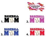 Baseball Mom Waterslide Nail Decals