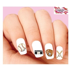Baseball Mom Assorted Waterslide Nail Decals