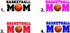 Basketball Mom Waterslide Nail Decals