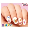 Beach Day Bikini, Sunglasses, Flip Flops, Sunglasses Assorted Waterslide Nail Decals