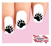 Bear Paw Claw Tracks Waterslide Nail Decals