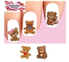 Cute Teddy Bear Assorted Waterslide Nail Decals
