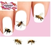 Honey Bees & Bumble Bees Assorted Set of 20 Waterslide Nail Decals