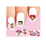 Betty Boop Red Heart Assorted Waterslide Nail Decals