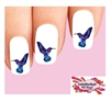 Purple & Blue Hummingbird Waterslide Nail Decals