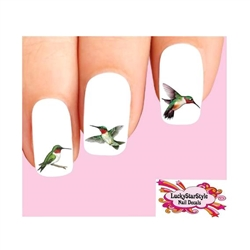Ruby Throated Hummingbird Assorted Waterslide Nail Decals