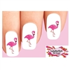 Pink Flamingo Waterslide Nail Decals