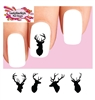 Buck Stag Deer Silhouette Assorted Waterslide Nail Decals