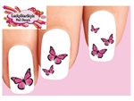 Pink Monarch Butterfly Assorted Waterslide Nail Decals