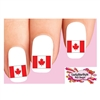 Canada Canadian Flag Waterslide Nail Decals