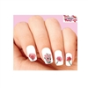 Pink Carnations Waterslide Nail Decals