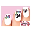 Day of the Dead Sugar Skull Kitty Cat Flowers Assorted Waterslide Nail Decals