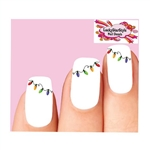 Christmas Holiday Lights Waterslide Nail Decals