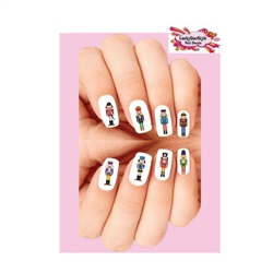 Christmas Holiday Nutcracker Assorted Waterslide Nail Decals