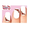 Holiday Christmas Poinsettia Corner Waterslide Nail Decals