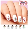 Christmas Holiday Snowman Assorted Waterslide Nail Decals