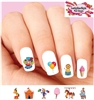 Circus Carnival Clown Horse Lion Balloons Assorted Waterslide Nail Decals