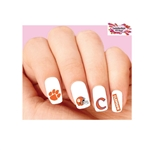 Clemson Tigers Assorted Waterslide Nail Decals