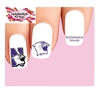 Northwestern University Wilcats Assorted Waterslide Nail Decals