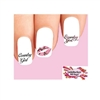 Country Girl Pink Camo Kiss Assorted Waterslide Nail Decals