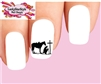 Cowboy at Cross Silhouette Waterslide Nail Decals