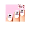 Cowgirls Rule Riding Horse Waterslide Nail Decals
