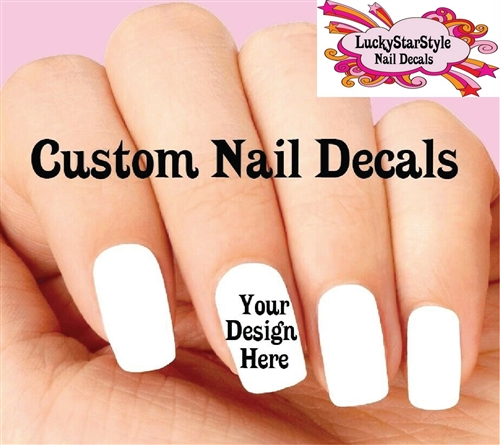 Custom Waterslide Nail Decals - Your Design or Idea