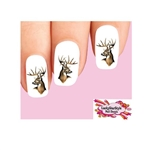 Deer Buck with Antlers Waterslide Nail Decals