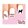 Akita Assorted Waterslide Nail Decals