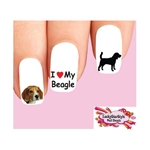 Beagle Assorted Waterslide Nail Decals