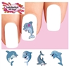 Cute Dolphins Assorted Waterslide Nail Decals