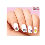 Happy Easter Bunny, Chick & Eggs Assorted #2 Waterslide Nail Decals