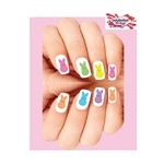 Easter Colorful Marshmallow Bunnies Assorted Waterslide Nail Decals