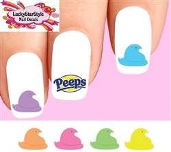 Easter Colorful Marshmallow Peeps Assorted Waterslide Nail Decals