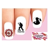 Firefighter Fire Department Assorted Waterslide Nail Decals