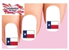 Texas Flag Waterslide Nail Decals