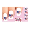 Flag USA American Waterslide Nail Decals