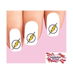 The Flash Lightning Bolt Waterslide Nail Decals